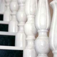 Columnas en mármol blanco Macael